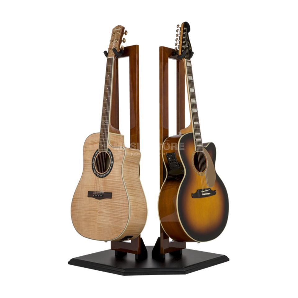 Fender Wood Hanging Display Stand - Double Guitar Stand Cherry Product Image