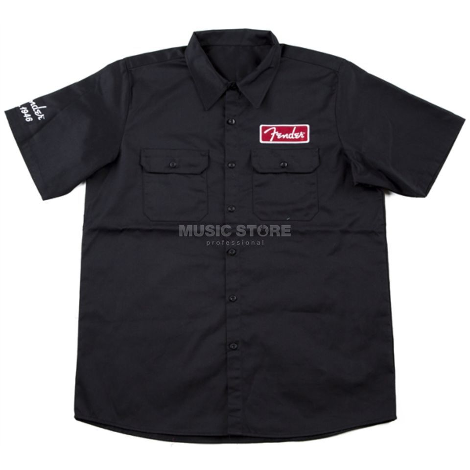 Fender Workshirt XXL Black Productafbeelding