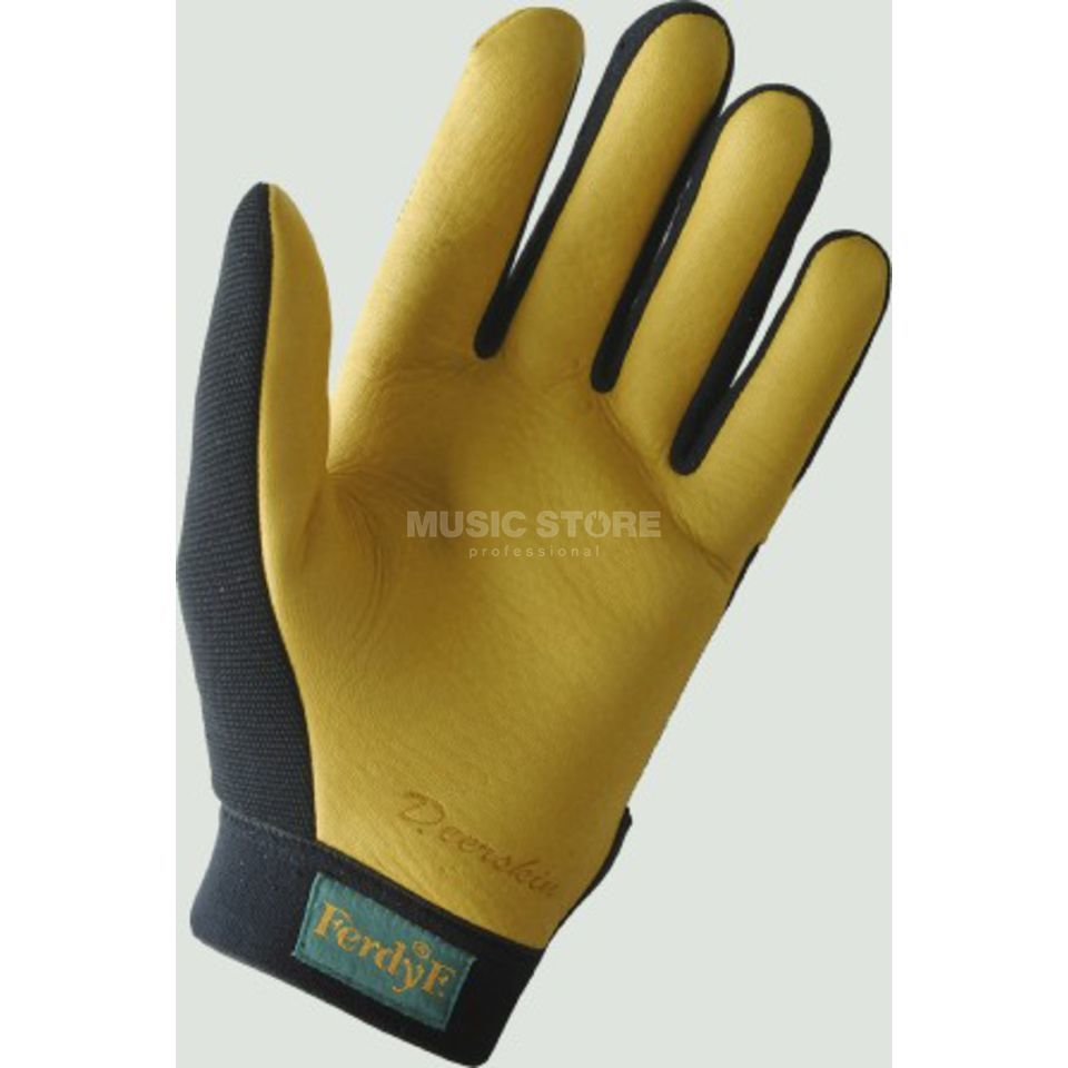 FerdyF. Trapper Gloves, Size M Yellow-Black Produktbillede