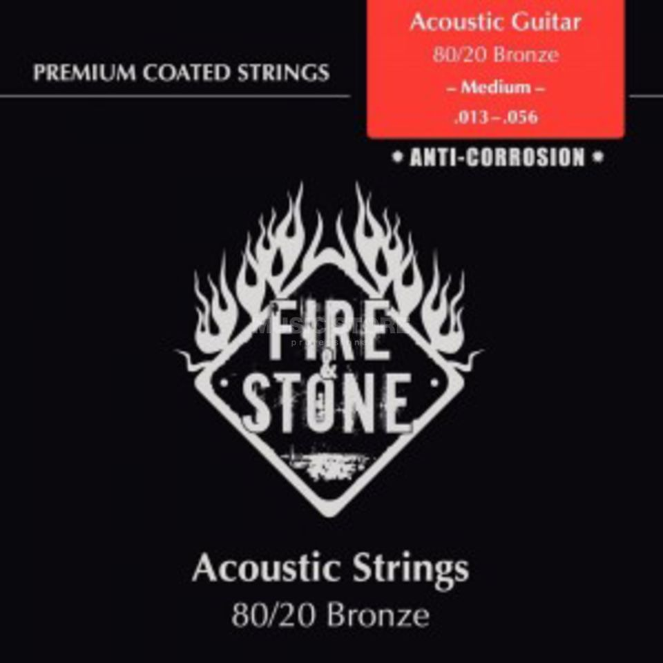 Fire & Stone A-Guitar Strings 13-56 Coated Medium, 80/20 Bronze Produktbillede