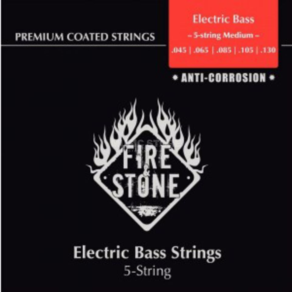 Fire & Stone Bass Saiten 45-130 Coated 5-Saiter Medium Produktbild
