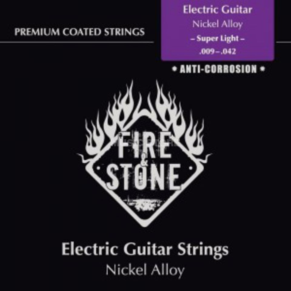 Fire & Stone E-Guitar Strings 09-42 Coated Super Light Produktbillede