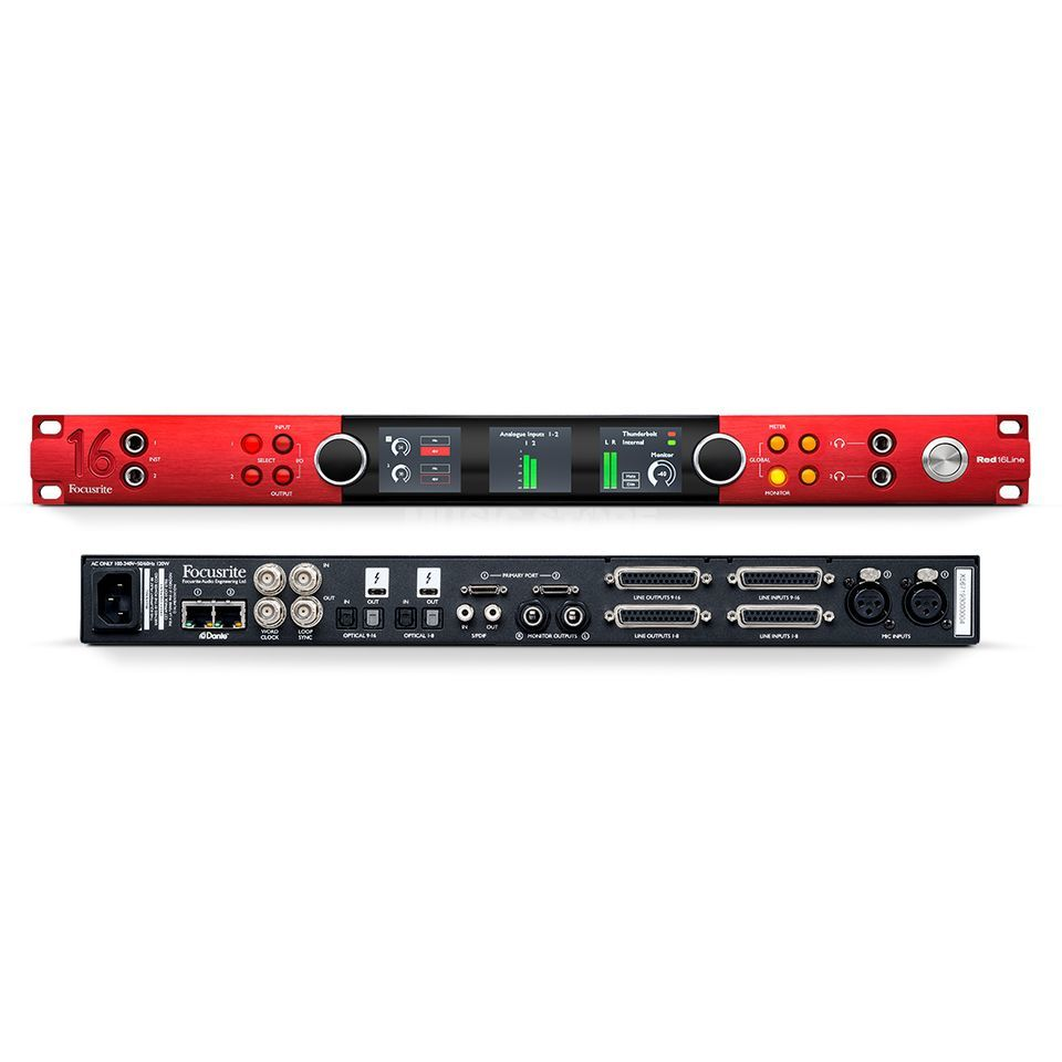 Focusrite Red 16 line 64x64 All-In-One, 32x32 Dante Produktbild