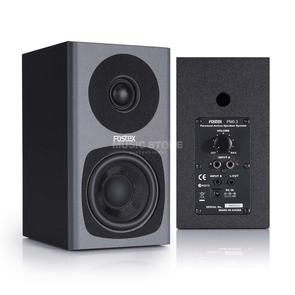 Fostex PM0.3d grey Compact 2-way Studio Monitors Produktbillede