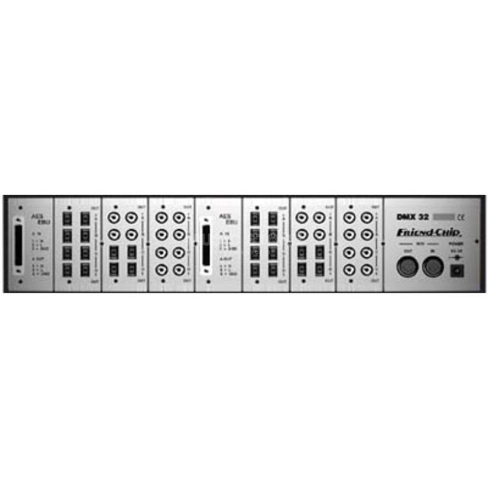 "Friend-Chip DMX 32 Patchbay 19"" 2HE Basis für 8x Standardmodule Produktbild"