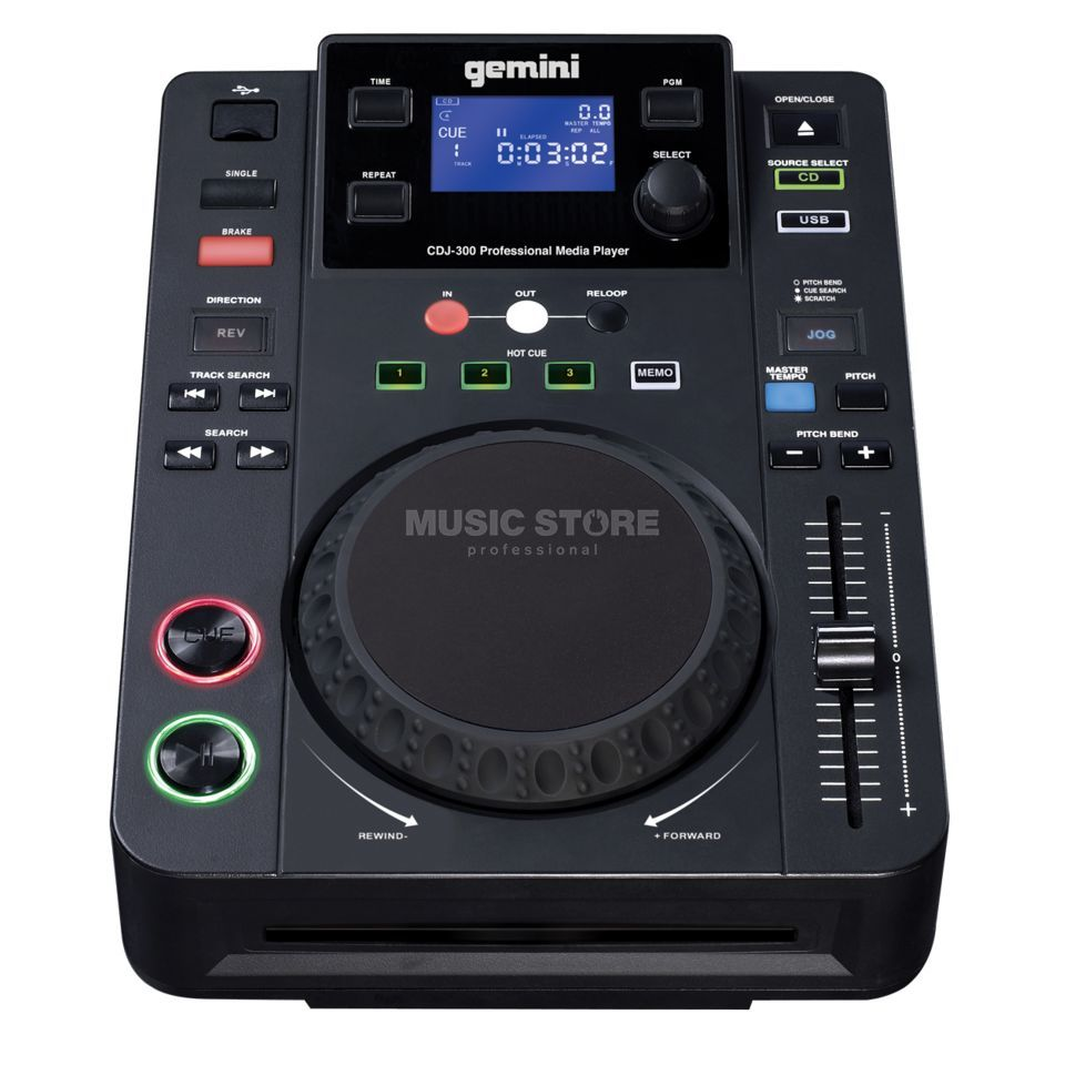 Gemini CDJ-300 CD/MP3 Player Immagine prodotto
