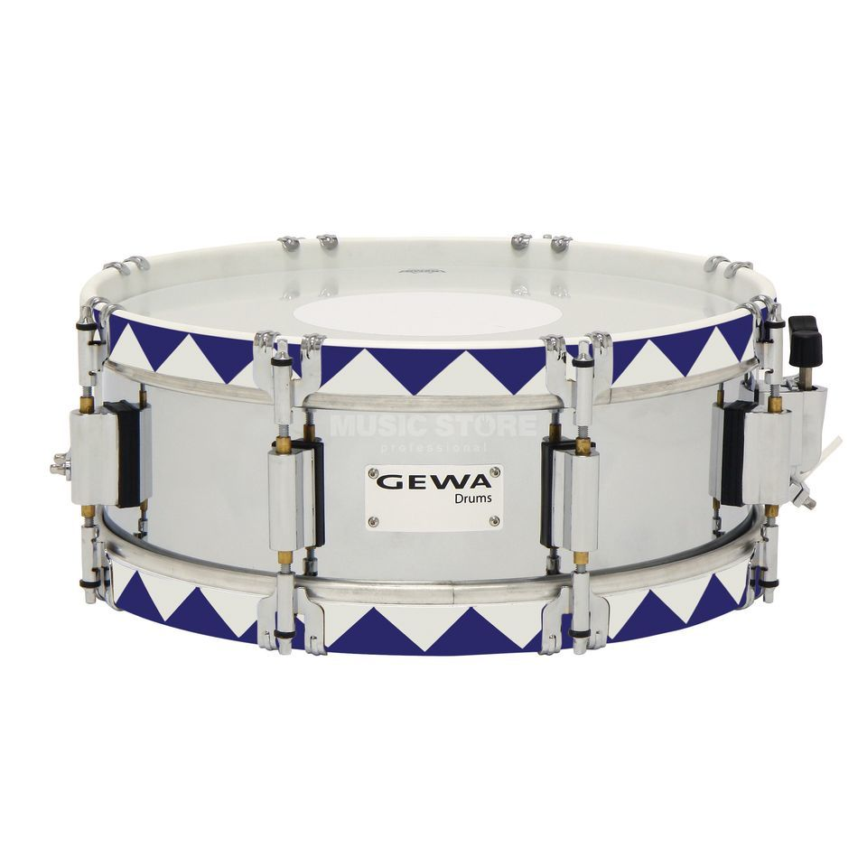 "Gewa Marching Snare 13""x5"", Historic Hoop, Blue Produktbillede"