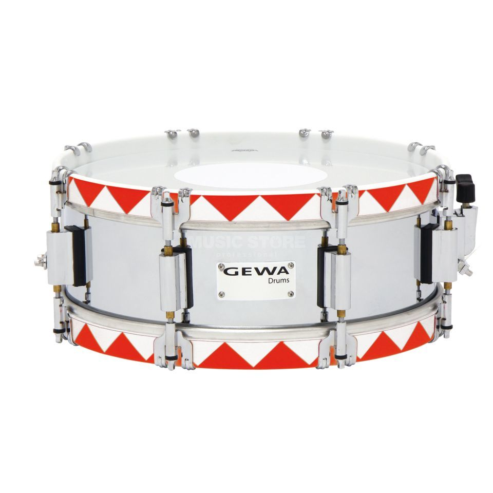 "Gewa Marching Snare 13""x5"", Historic Hoop, Red Produktbillede"