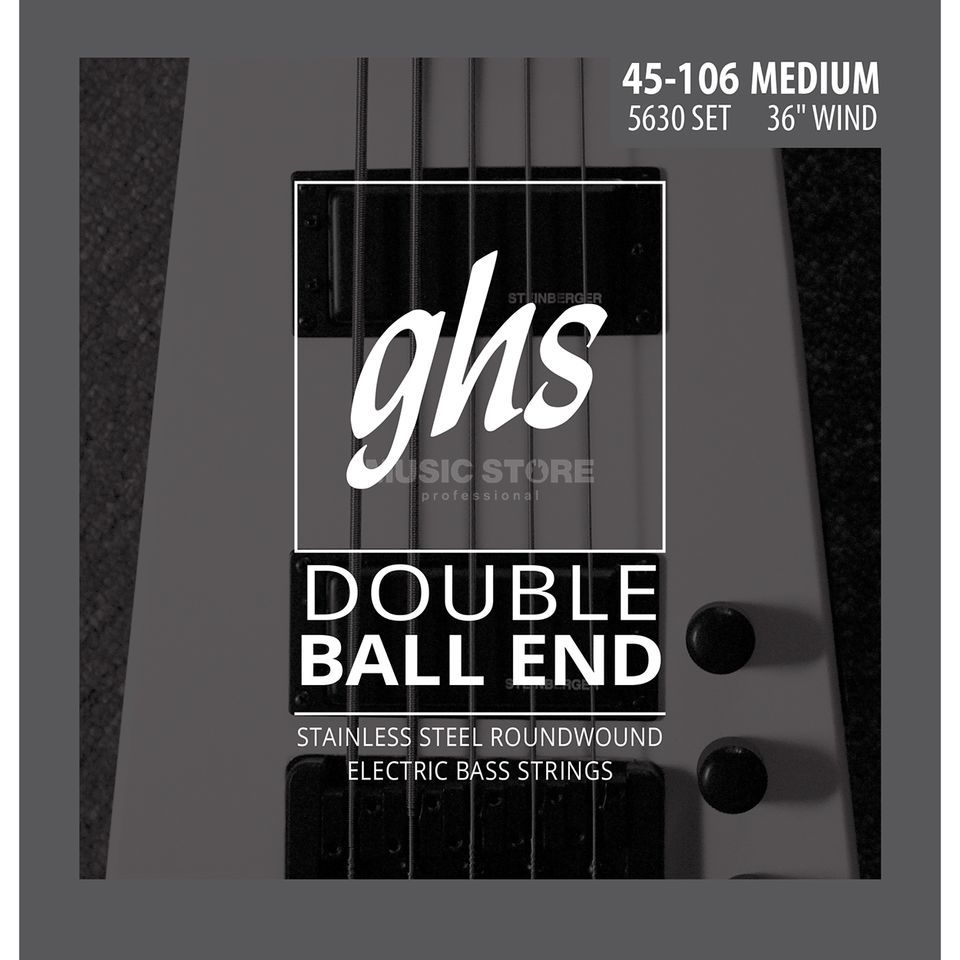 GHS 4 String Bass Double Ball 45-106 45-63-84-106 Produktbillede
