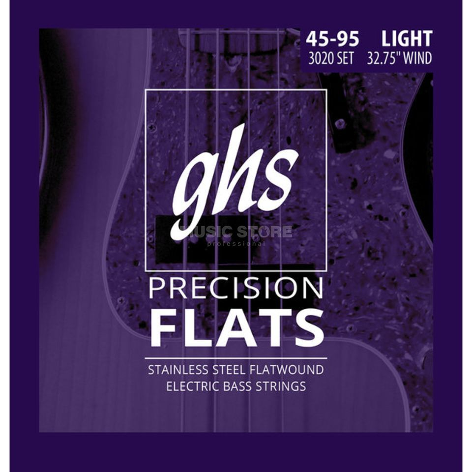 GHS 4er Bass Precision Flatwound Short Scale 45-60-75-95 Produktbild
