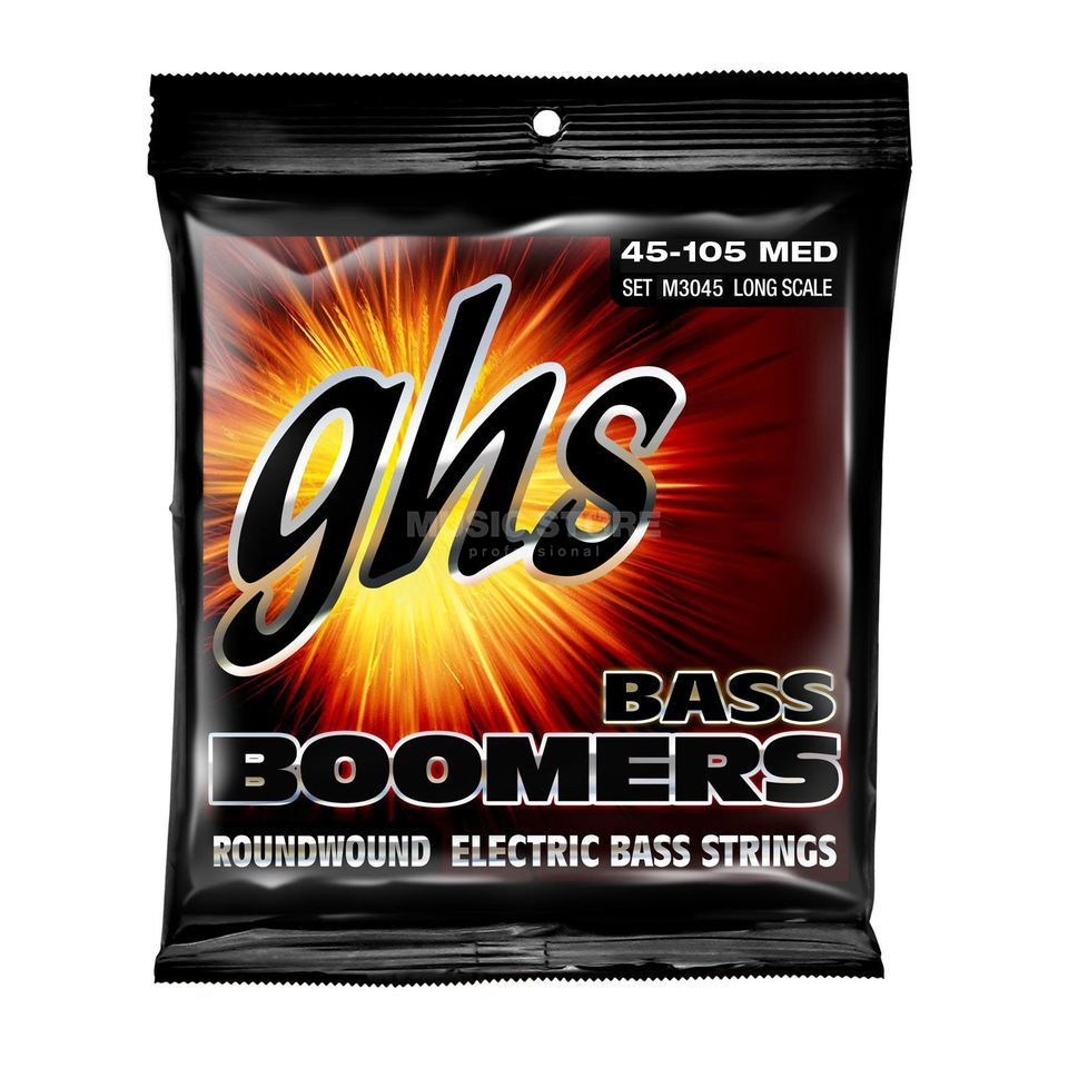 GHS Bass,4er,45-105,Boomers Roundwound Long Scale Product Image
