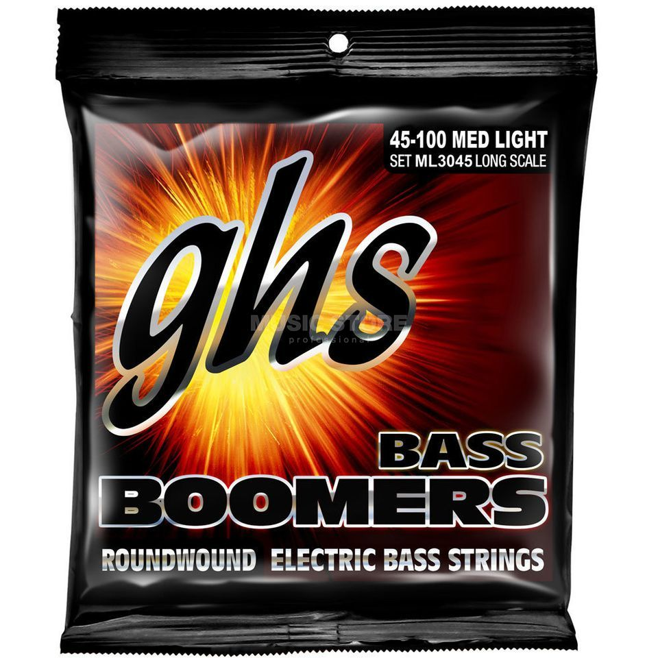 GHS E-Bass,45-100,Boomers Roundwound Long Scale Product Image