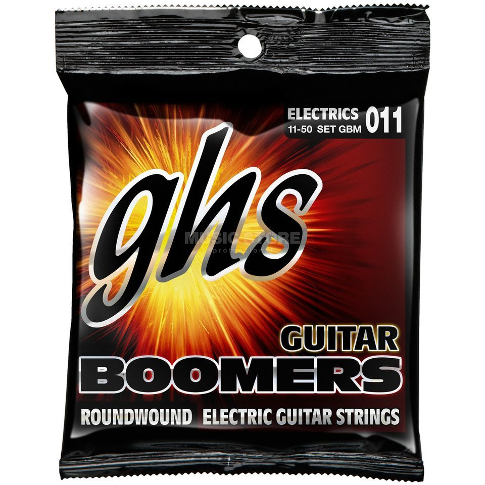 GHS E-Git.snaren 11-50 Boomers nikkel Plated roundwound Productafbeelding