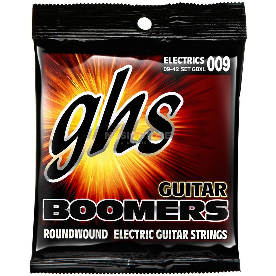 GHS E-Guit.Strings,09-42, Boomers Nickel Plated Roundwound Produktbillede