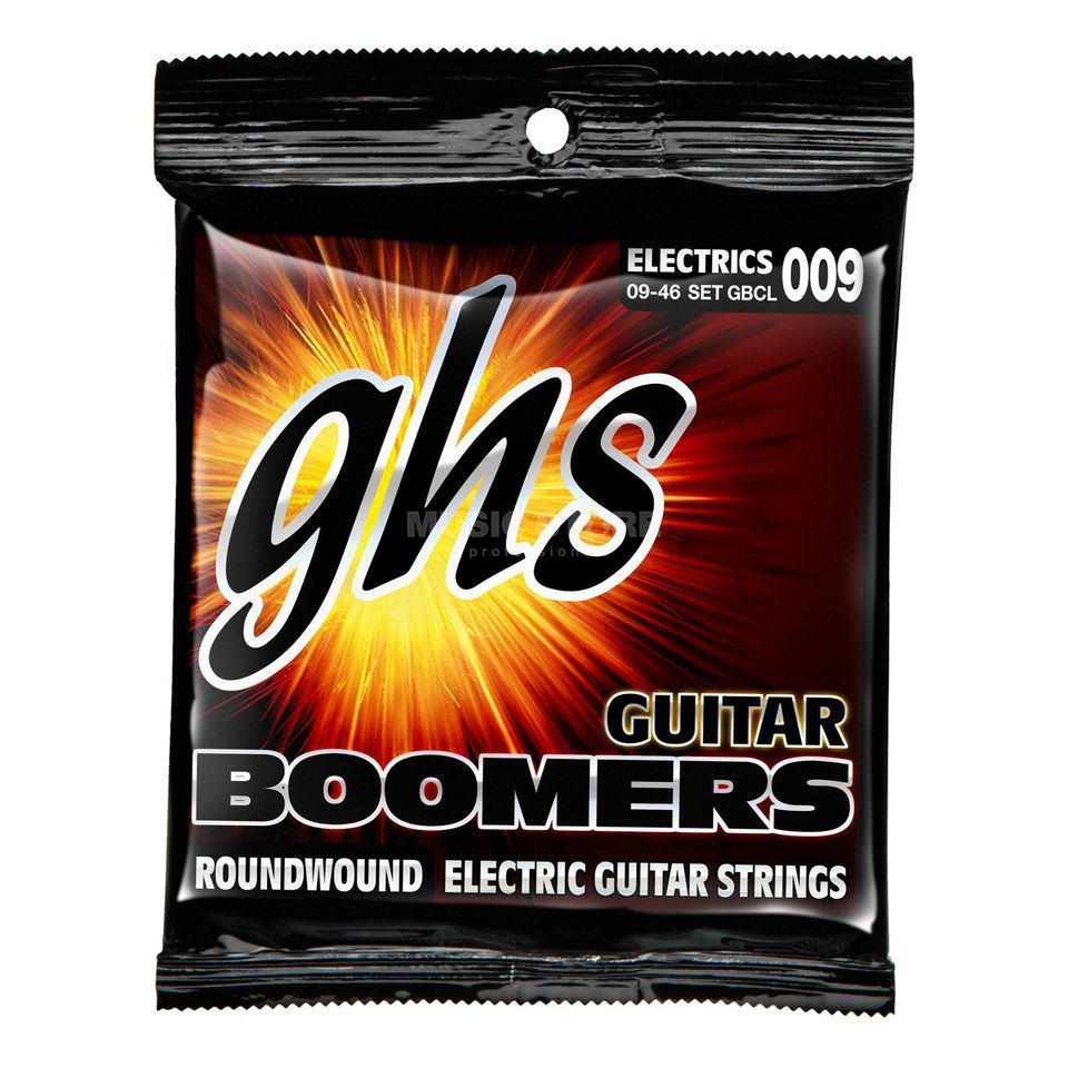 GHS E-Guit.Strings,09-46, Boomers Nickel Plated Roundwound Produktbillede