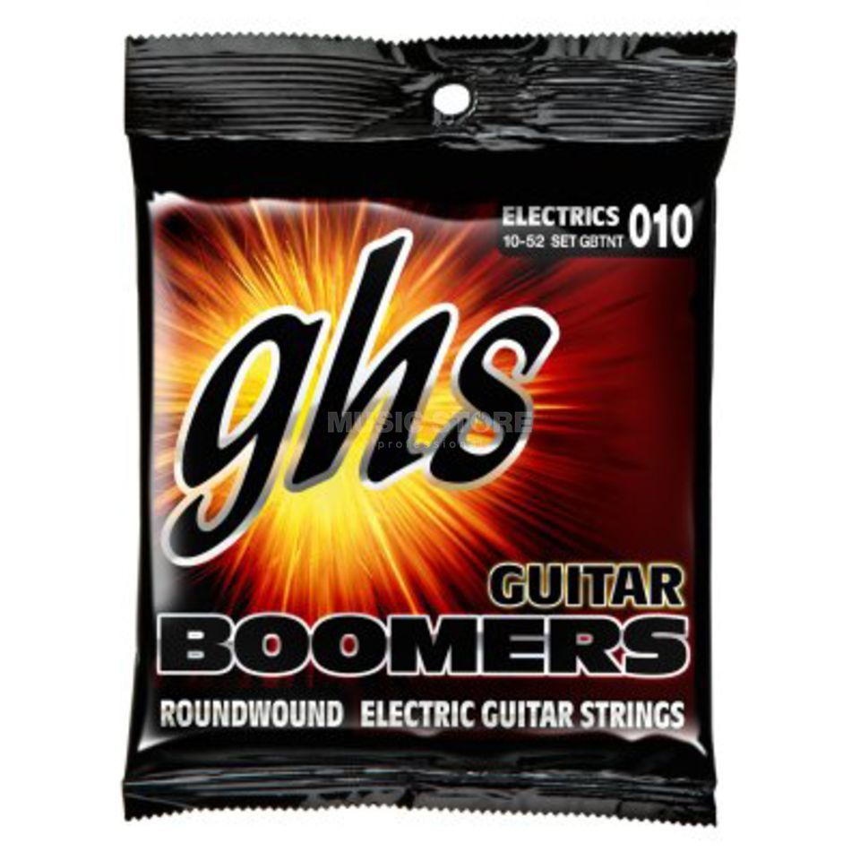 GHS E-Guit.Strings, 10-52, Boomers Nickel Plated Roundwound Produktbillede