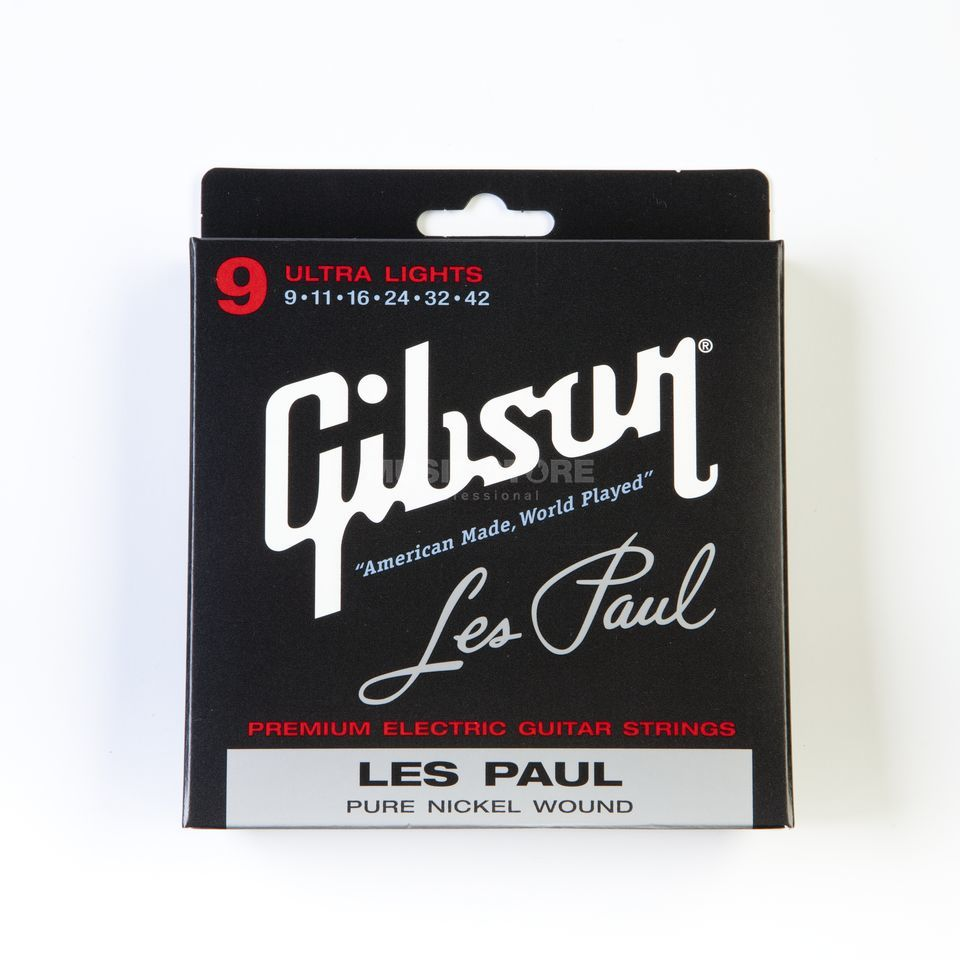 Gibson E-Guitar Strings 09-42 LesPaul Pure Nickel Wound Produktbillede