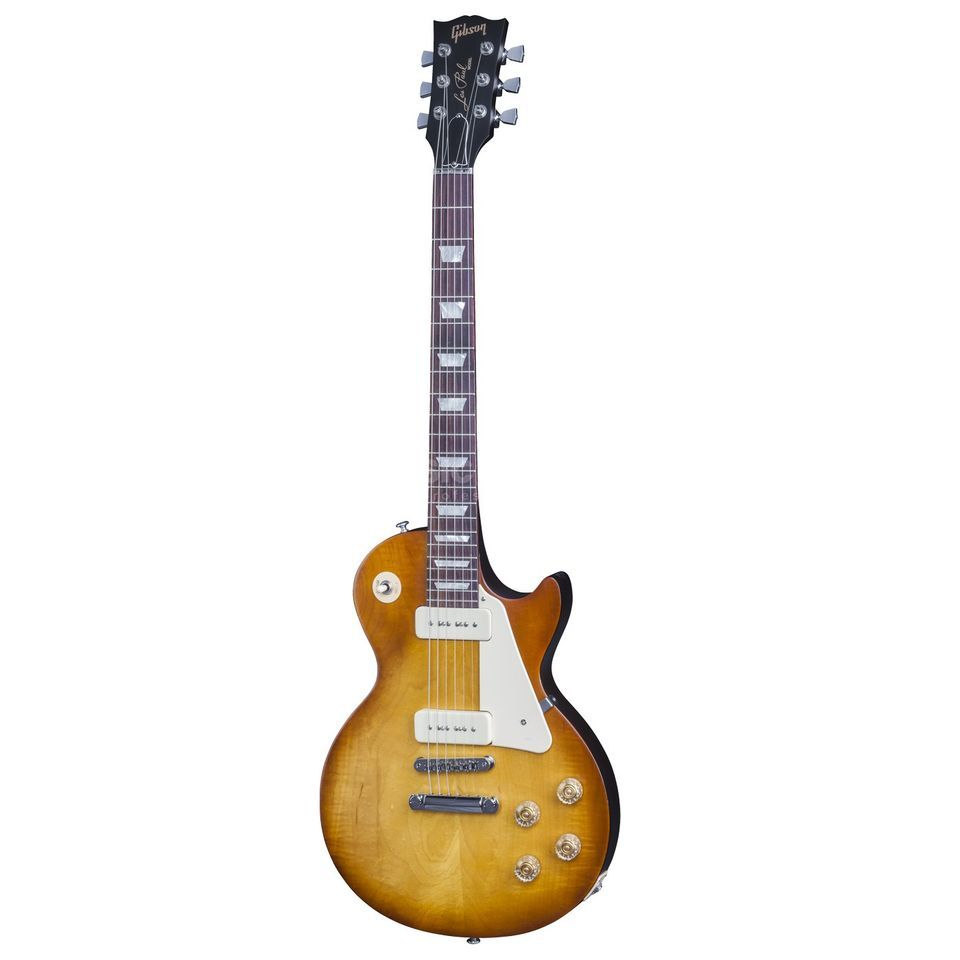 Gibson Les Paul 60s Tribute 2016 HP Satin Honeyburst Dark Back Produktbild