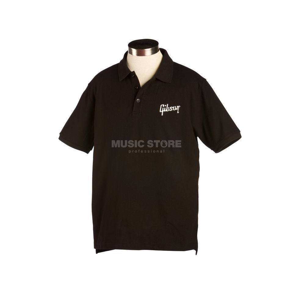 Gibson Logo Men's Polo S Black Produktbild