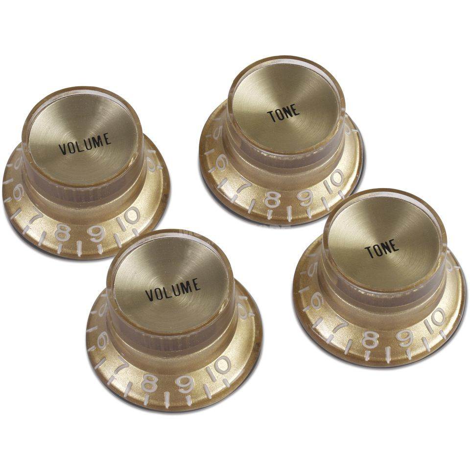 Gibson PRMK-030 Top Hat Knob Gold Set 4 St Metalleinlage Gold Produktbild
