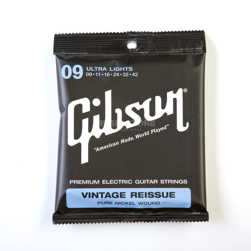 Gibson SEG-VR9 Vintage Reissue 09-42 Pure Nickel Ultra Lights Produktbild