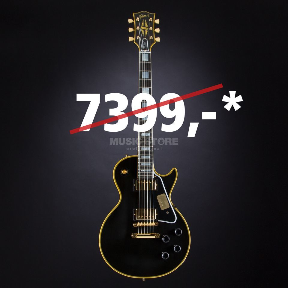 Gibson True Historic 1957 Les Paul Custom Reissue Vintage Ebony #75314 Produktbillede