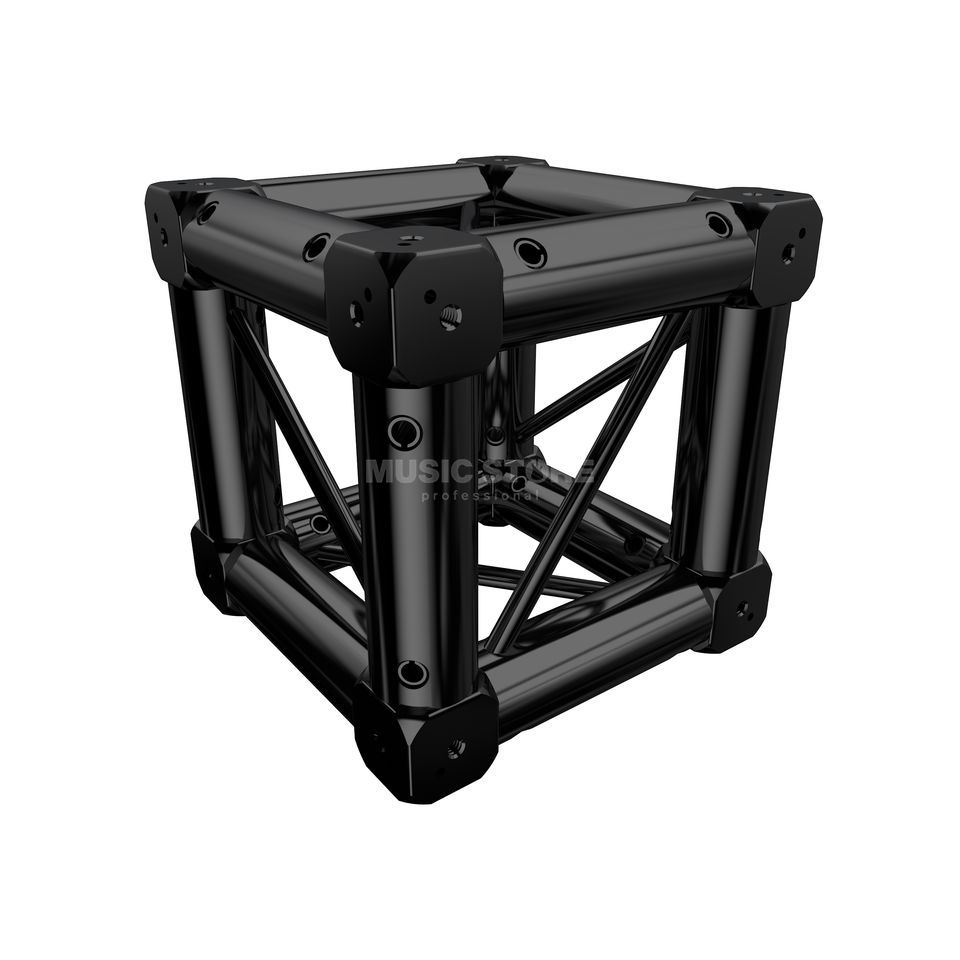 Global Truss F14 Boxcorner with 8 connectors Black Produktbillede
