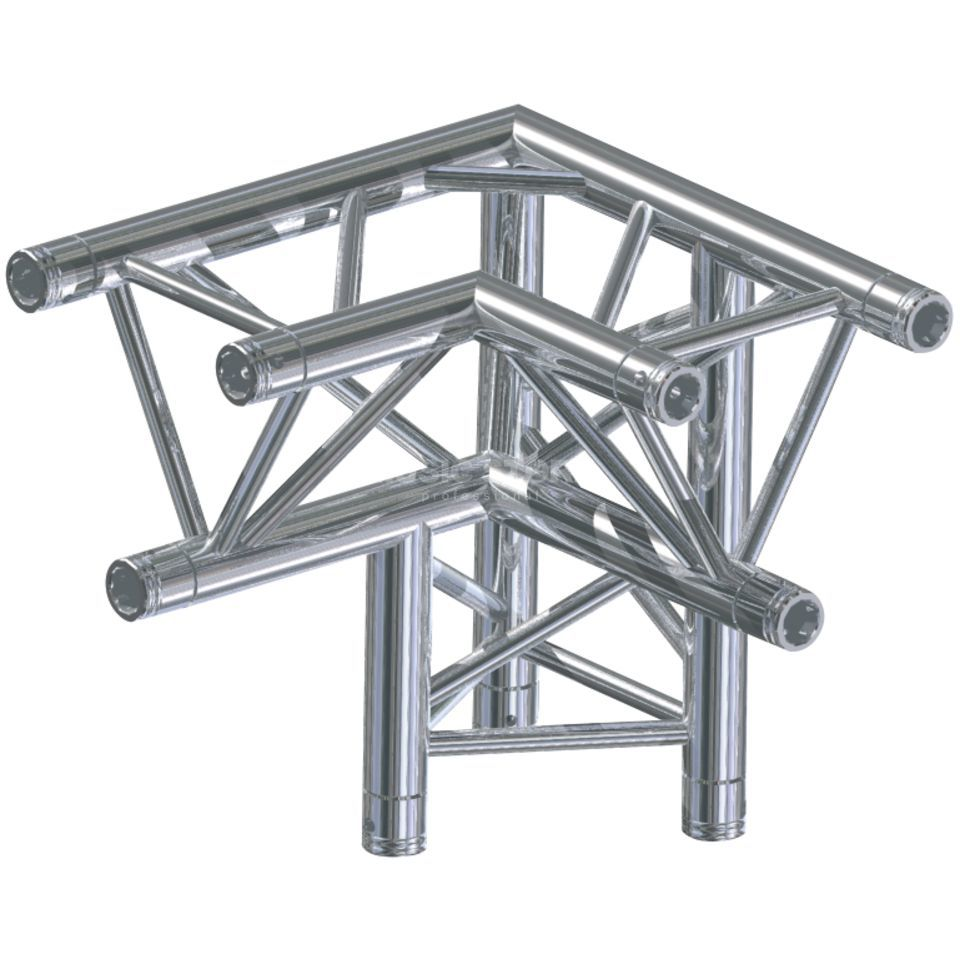 Global Truss F33, LD90 Ecke, C33 3-Punkt, 3-Weg links