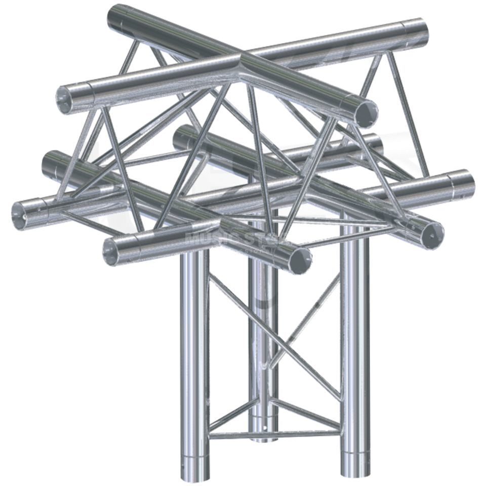 Global Truss F33, XU-X Piece C52 3-Point, 5-Way Cross Zdjęcie produktu