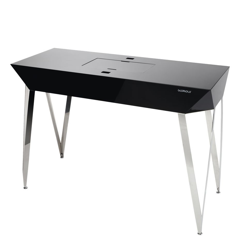 Glorious Glorious Diamond Black DJ-Table 125 x 90 x 48 cm