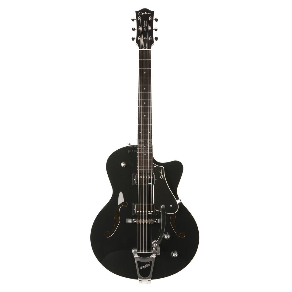 Godin 5th Avenue Uptown Solid Black GT Produktbild