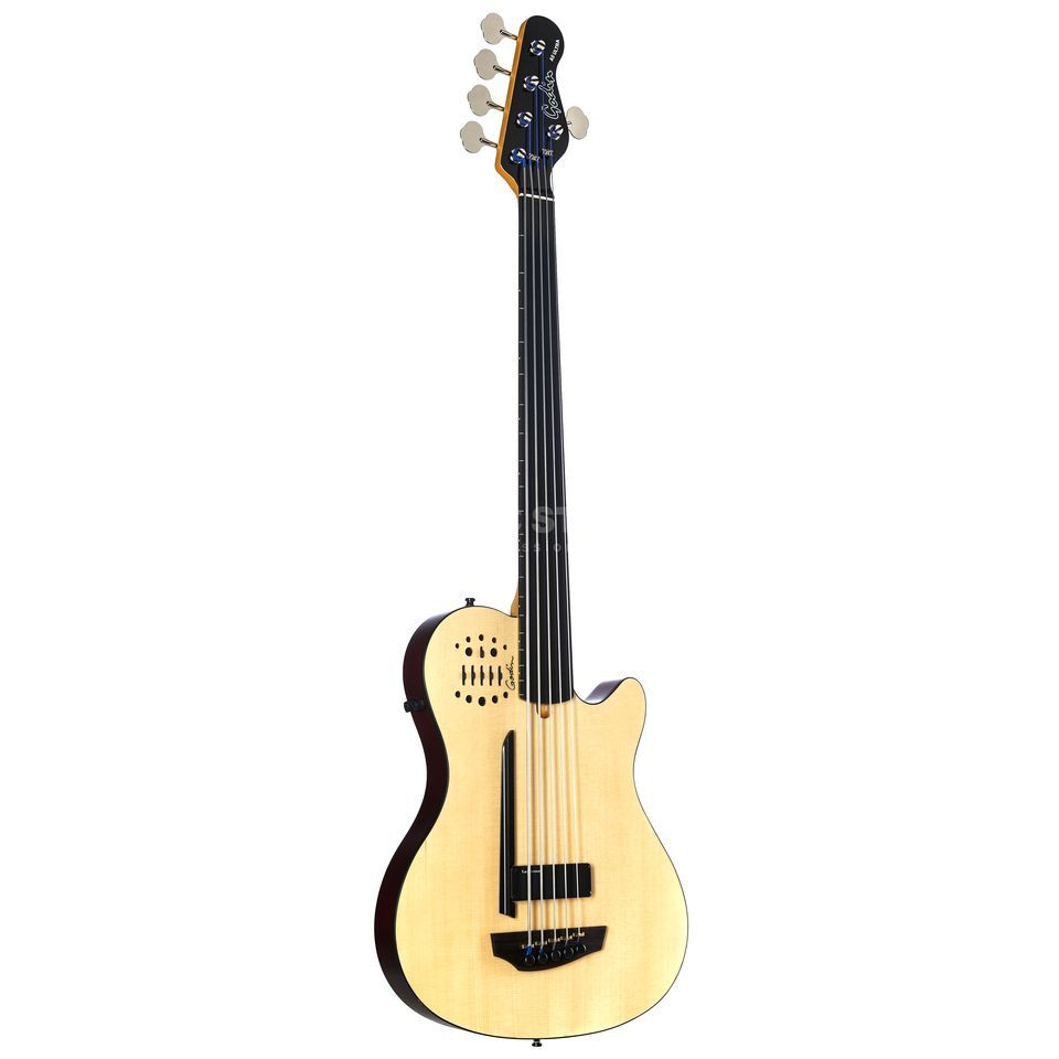 Godin A5 Ultra Fretless SA Natural Semi- Gloss Productafbeelding