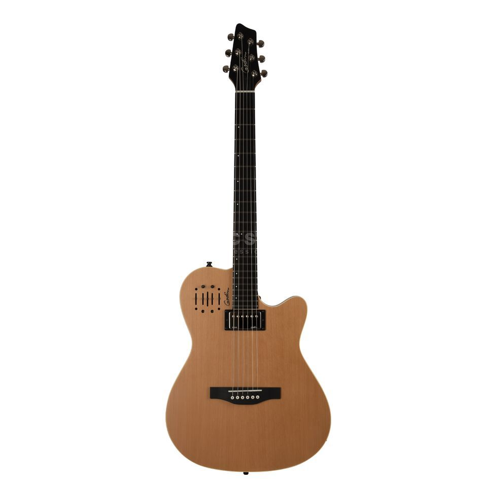 Godin A6 Ultra Electric Guitar, Natu ral Semi-Gloss   Produktbillede