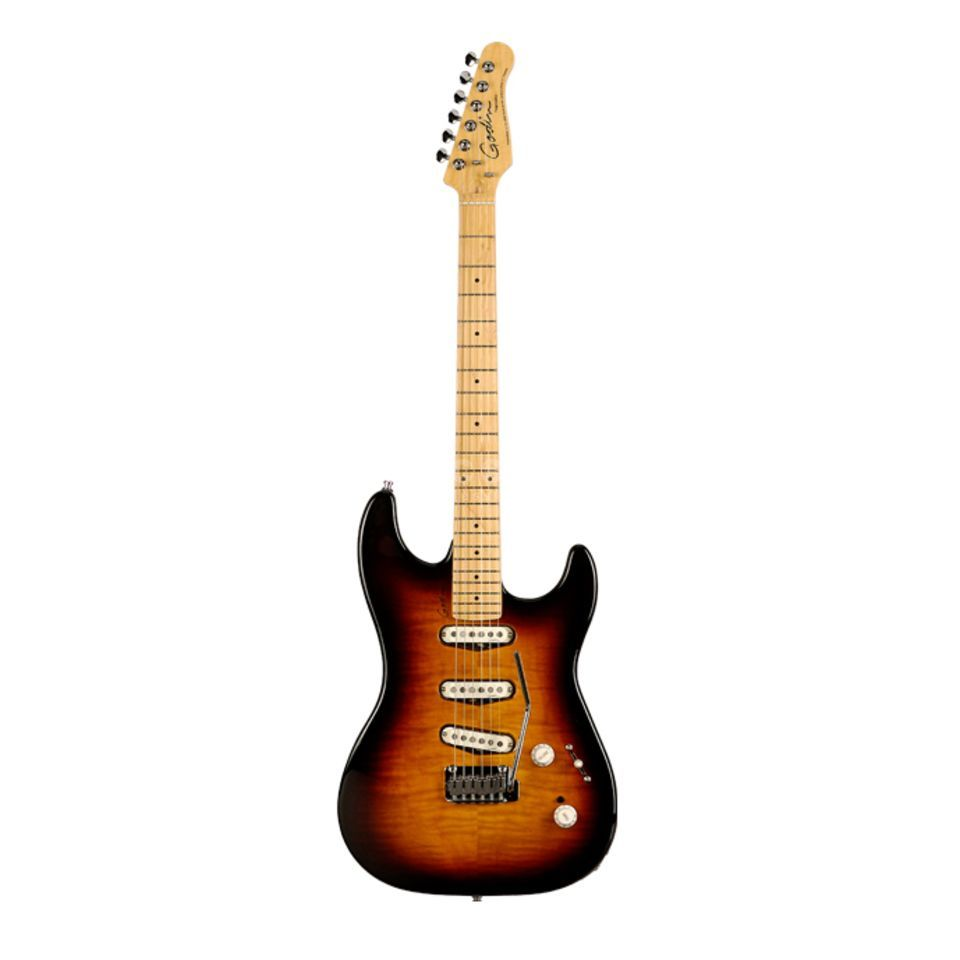 Godin Progression Electric Guitar, V intage Burst, Maple   Produktbillede