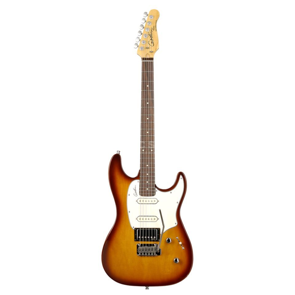 Godin Session Electric Guitar, Rosew ood, Lightburst HG   Produktbillede