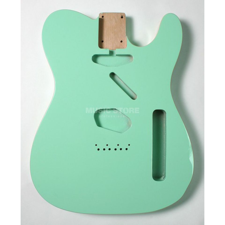 Göldo Body Tele Alder Surf Green Double Binding Produktbillede