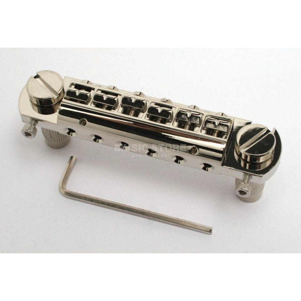 Göldo Duesenberg Wrap Around Bridge 81,5mm, Nickel HW01N Produktbild