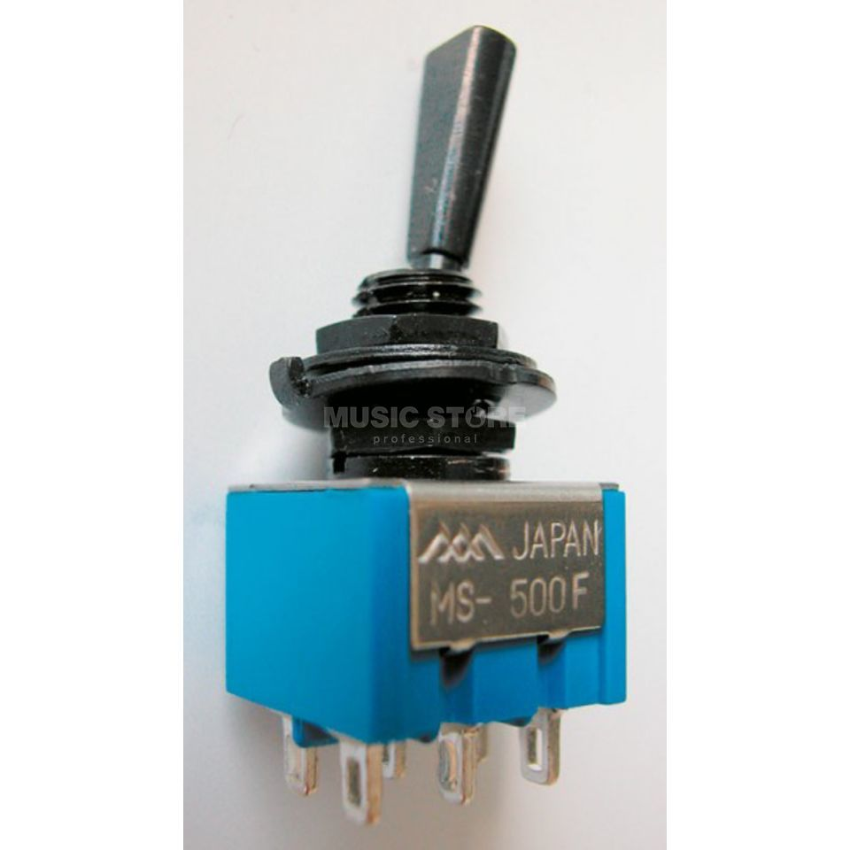 Göldo Mini-Schalter on/off/on 6 Pins Schwarz