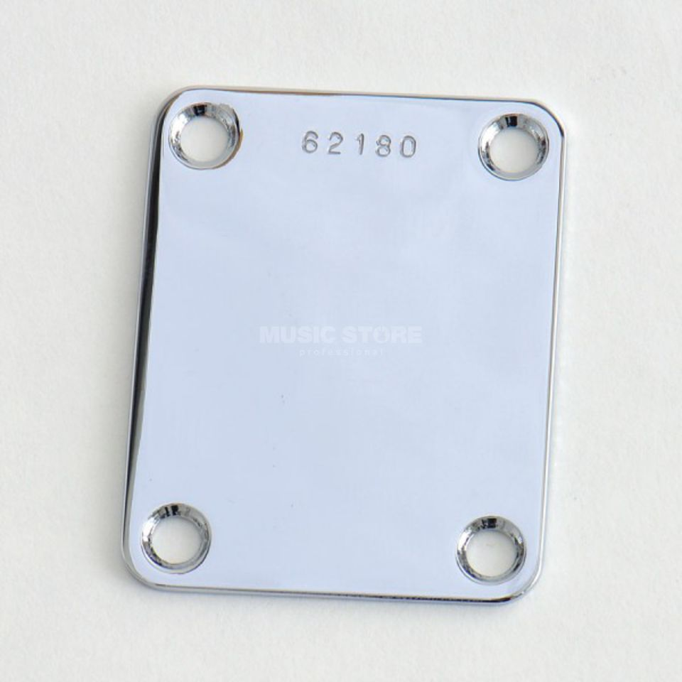 Göldo Neck Plate 4 Hole Chrome with Serial Number Produktbillede