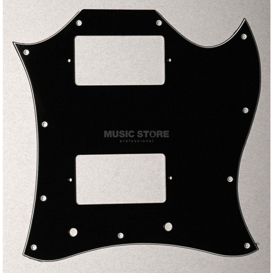 Göldo Pickguard Double Cut, 3-ply black Produktbillede