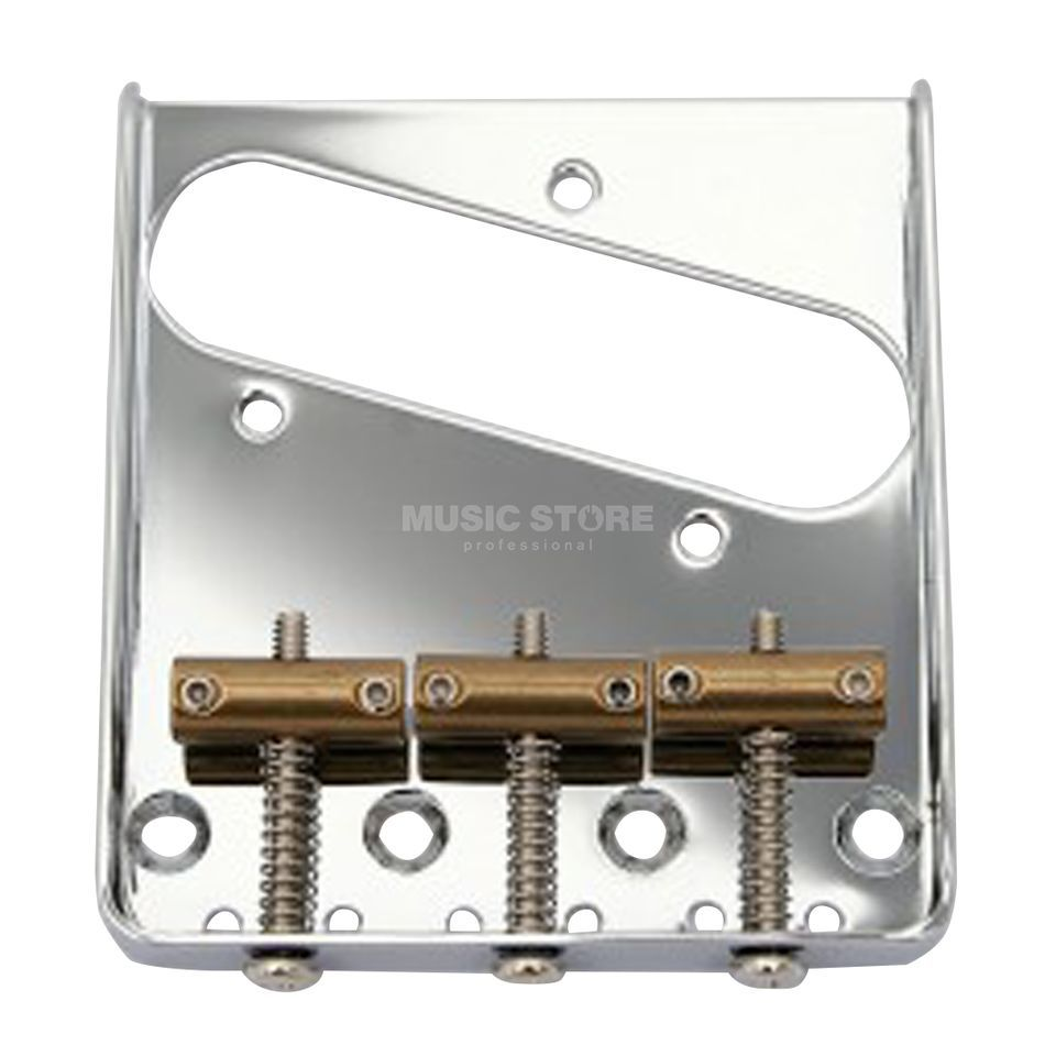 Göldo Tele  Bridge Vintage chrome - 3 Brass Guides Produktbillede