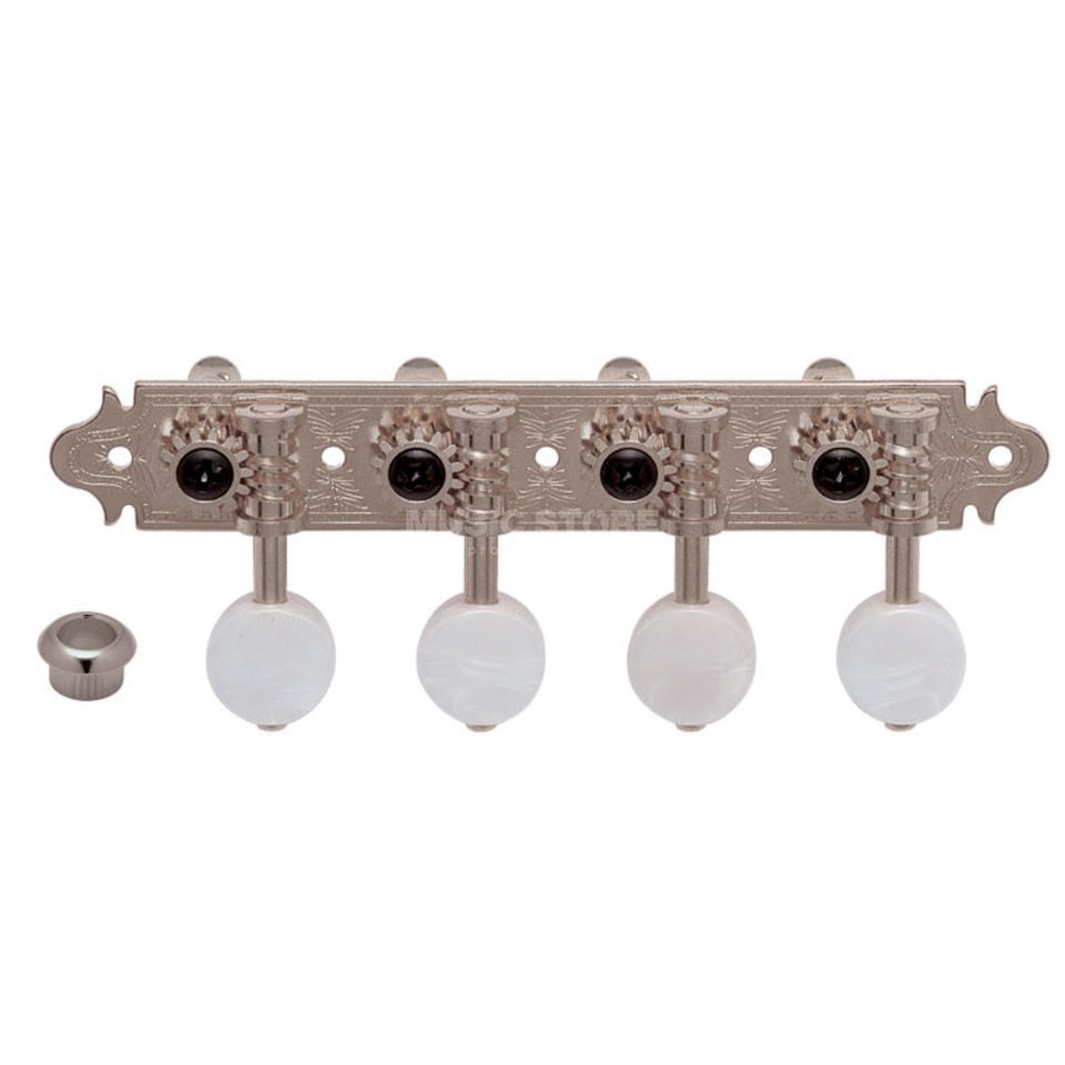 Gotoh MA-40 Mandolinenmechanik N 4L 4R MP Button nickel Produktbild