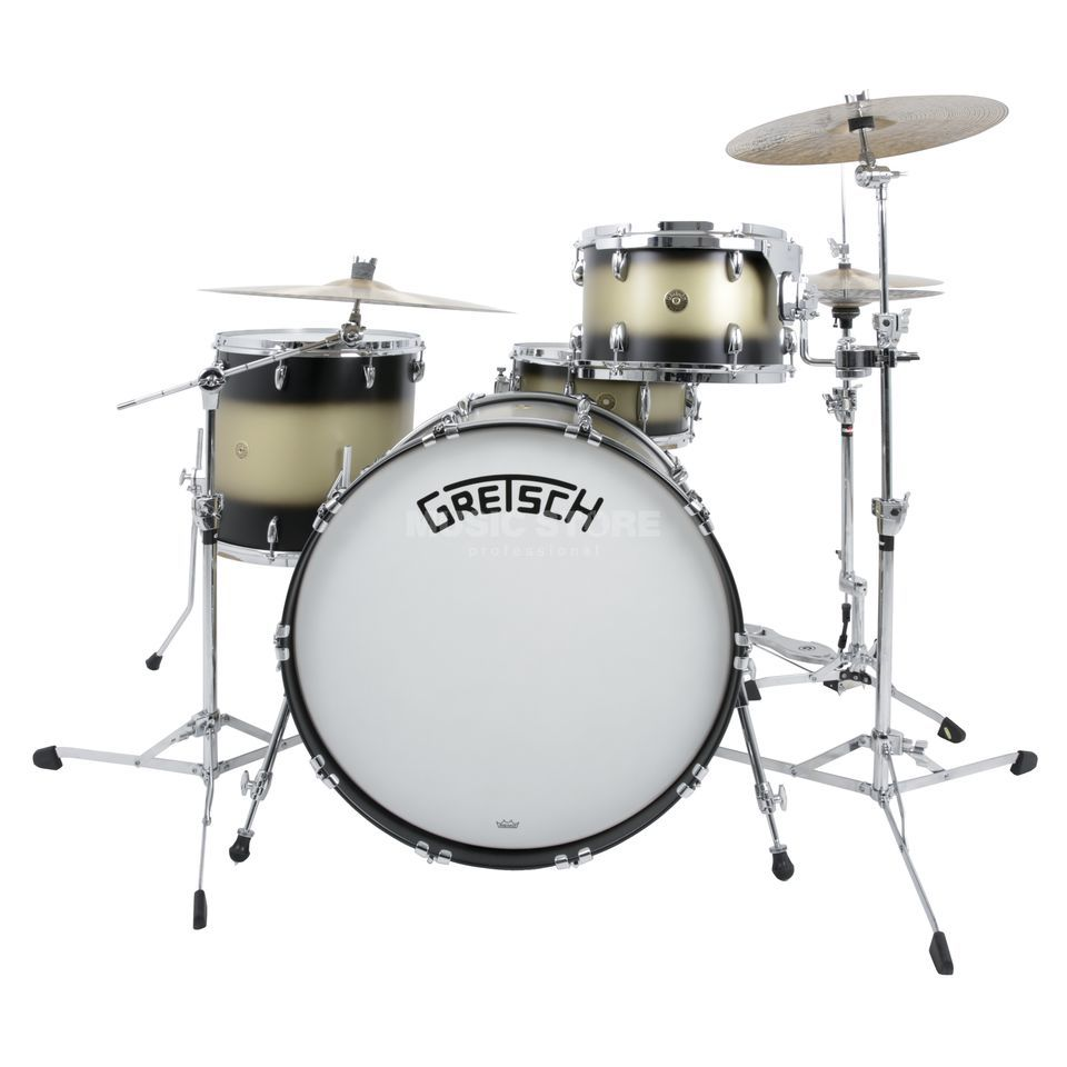 Gretsch Broadkaster LE Rock Kit, Satin Black Gold Duco Produktbillede