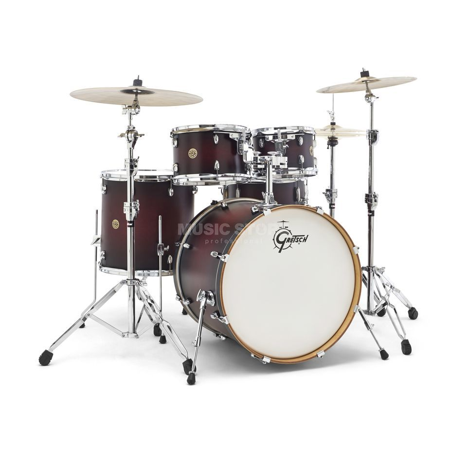 Gretsch Catalina Maple CM1-E825, Satin Deep Cherry Burst #SDCB Produktbillede