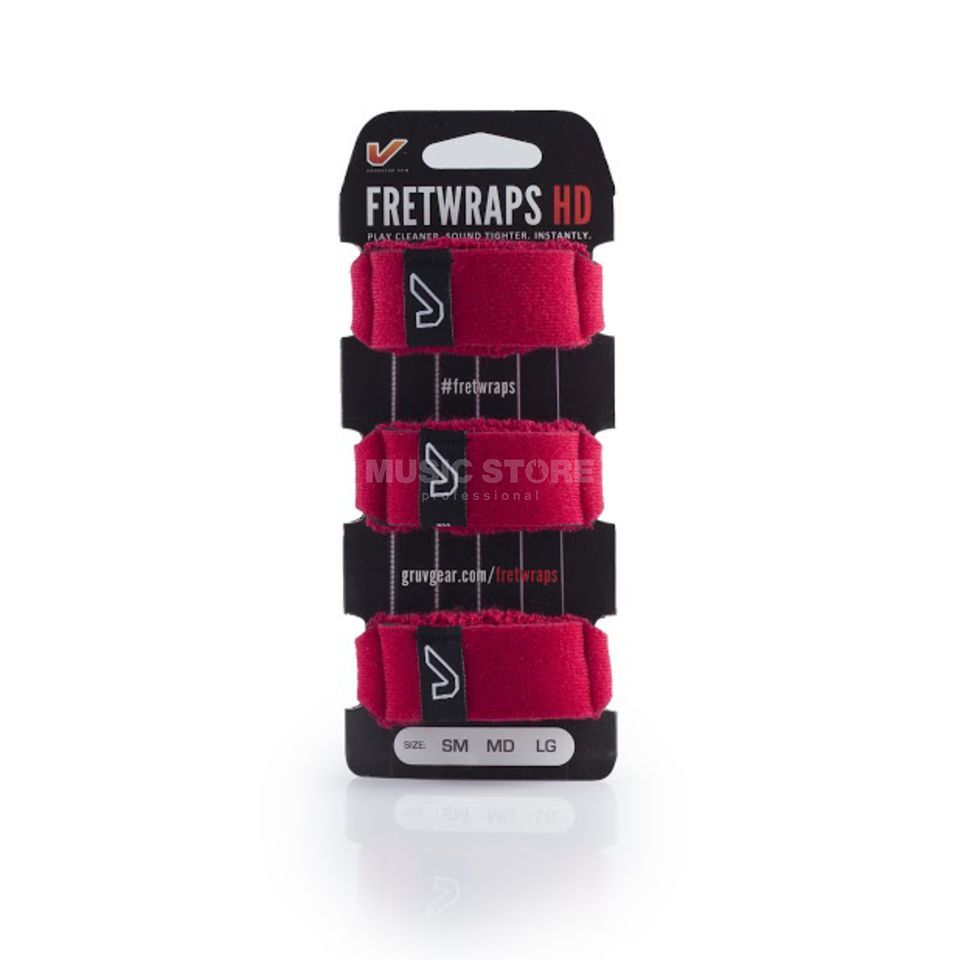 Gruv Gear Fret Wraps HD Fire Red Large, 3er Pack Produktbild