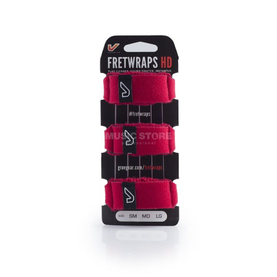 Gruv Gear Fret Wraps HD Fire Red Small, 3er Pack Produktbillede