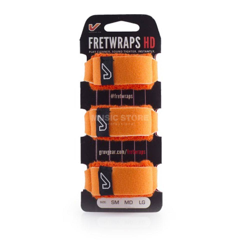 Gruv Gear Fret Wraps HD Flare Orange Small, 3er Pack Product Image