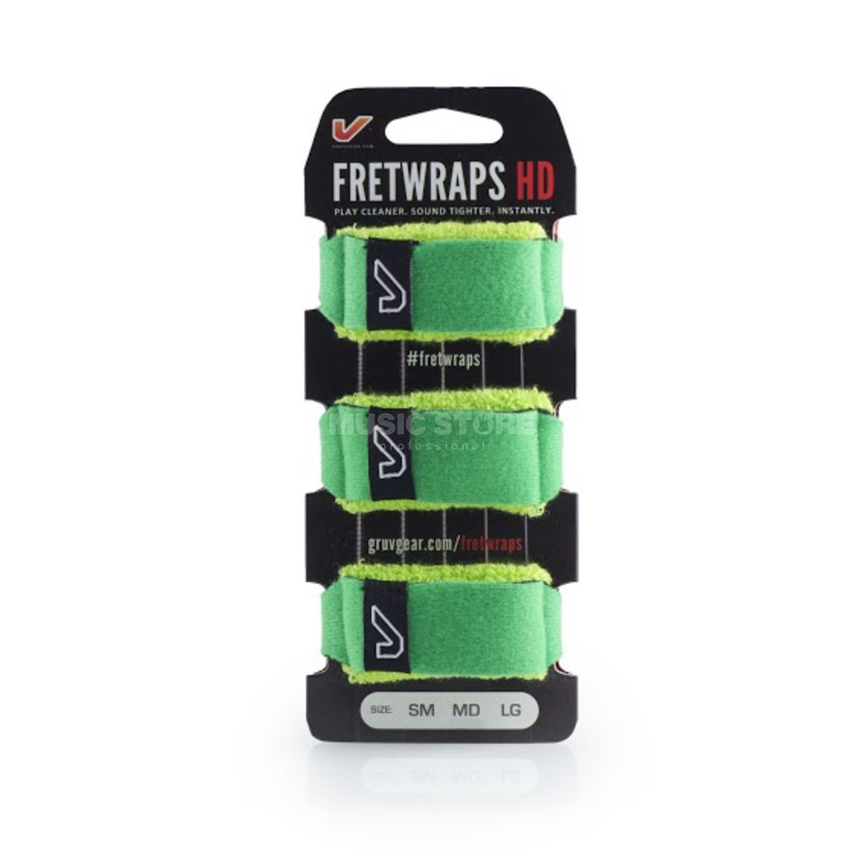 Gruv Gear Fret Wraps HD Leaf Green Medium, 3er Pack Produktbillede