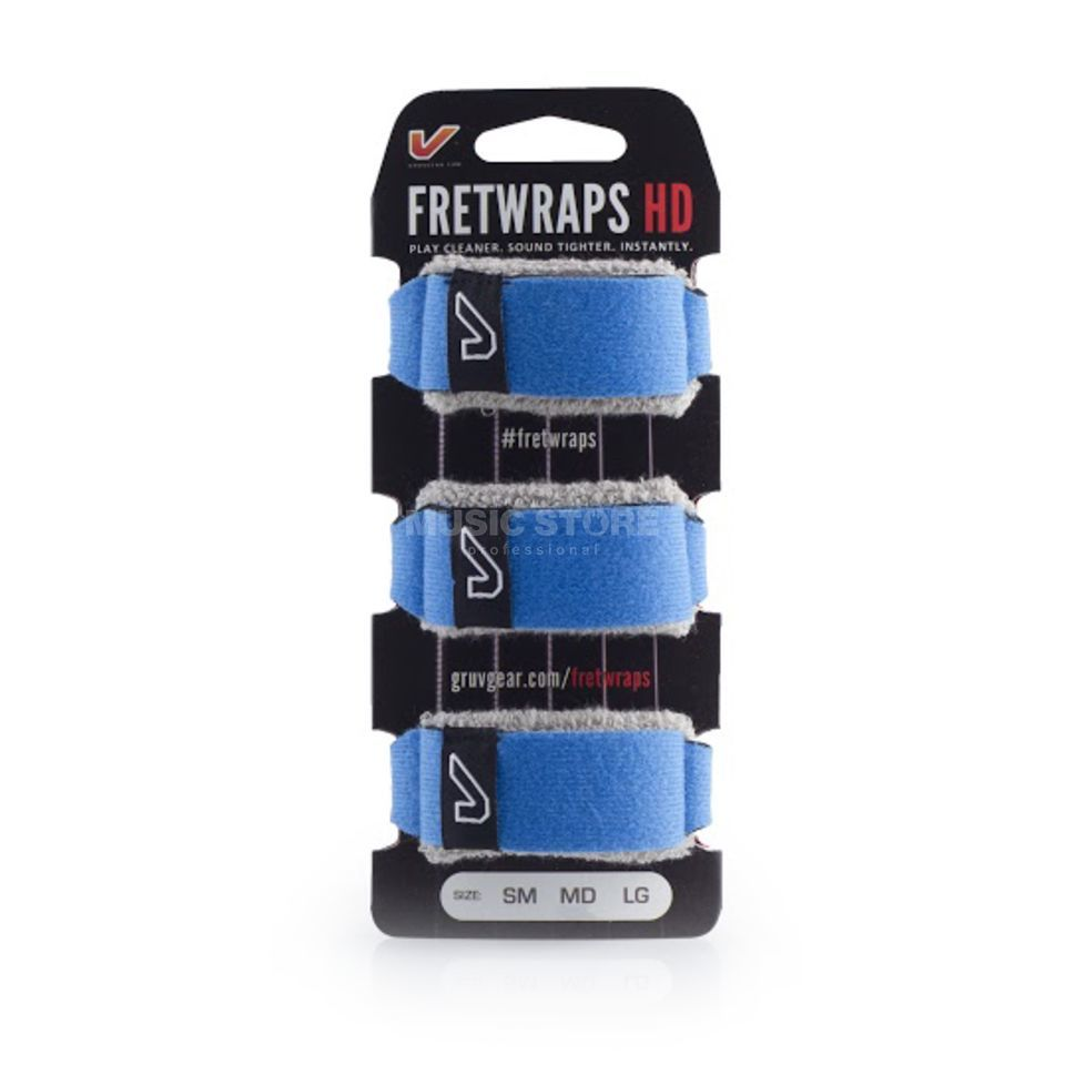 Gruv Gear Fret Wraps HD Sky Blue Large, 3er Pack Produktbillede