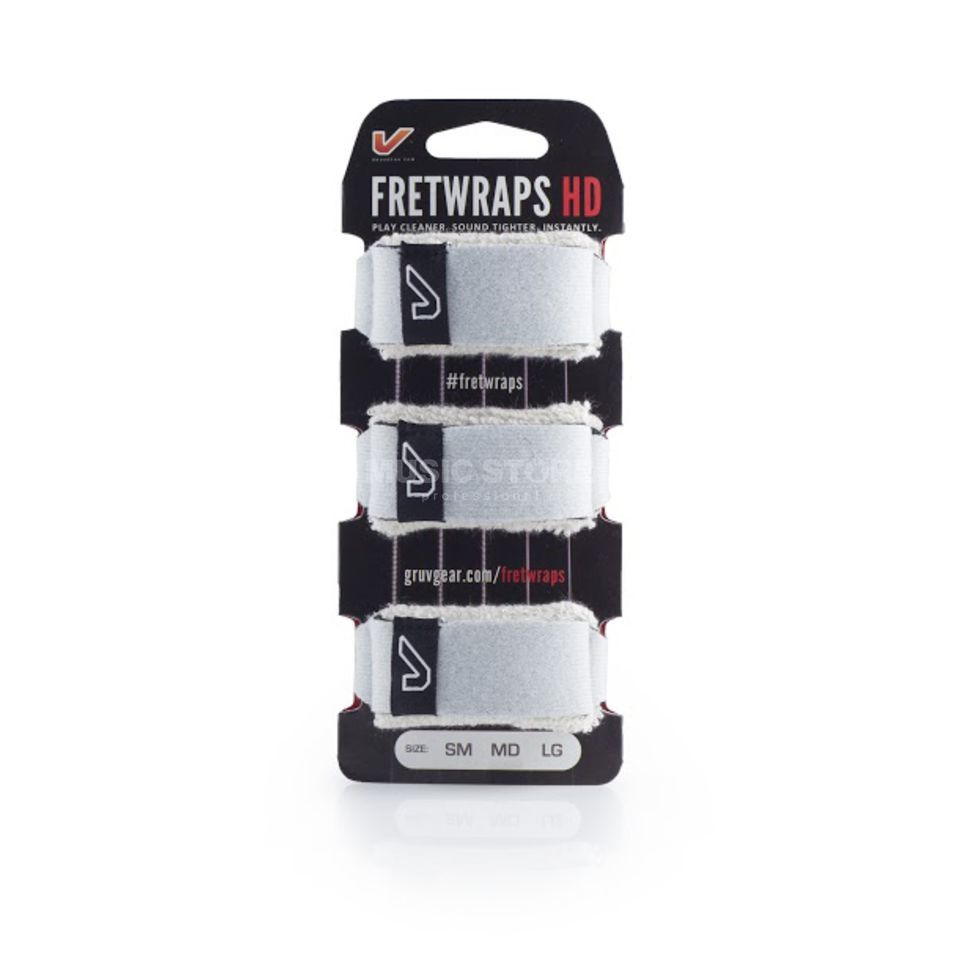 Gruv Gear Fret Wraps HD Stone White Large, 3er Pack Produktbillede